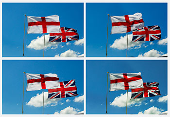 english flag and union jack